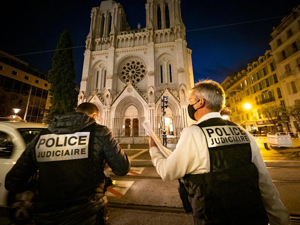 Three people were killed in a knife attack at the Notre-Dame Basilica in NiceGetty Images