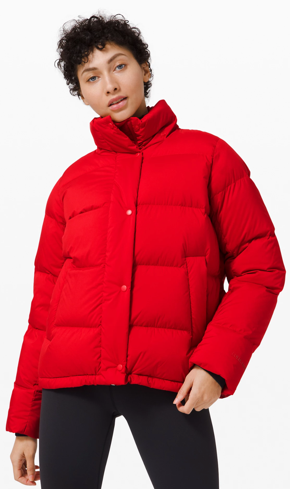 Wunder Puff Jacket in Dark Red (Photo via Lululemon Athletica)