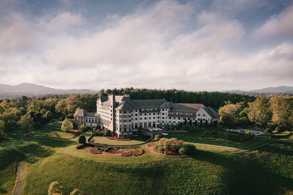 """<p>Few places will leave you feeling like American royalty than a long and lavish weekend at the iconic Biltmore Estate in Asheville. We're especially fond of the <a href=""""https://www.biltmore.com/stay/the-inn/"""" rel=""""nofollow noopener"""" target=""""_blank"""" data-ylk=""""slk:Inn at The Biltmore Estate"""" class=""""link rapid-noclick-resp"""">Inn at The Biltmore Estate</a> with its sweeping views, elegant rooms and suites, and luxe amenities. </p><p>A stay at the inn allows access to the Biltmore gardens and grounds, estate winery, and all the dining and shops at Antler Hill Village for the duration of your stay. It's also home to the estate's spa and glamorous Library Lounge, where guests can kick up their feet after a day of horseback riding around the estate or exploring every inch of the impeccable gardens and enjoy a martini and a good book to the tune of a live pianist. The property is home to a wide variety of seasonal events as well, so be sure to discover all the exciting happenings coming up for the month your are planning to book your stay. </p>"""