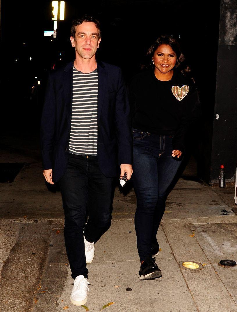 Mindy Kaling and B.J. Novak head to dinner at Craig's restaurant in Los Angeles, Sept. 19. - Credit: twoeyephotos/MEGA
