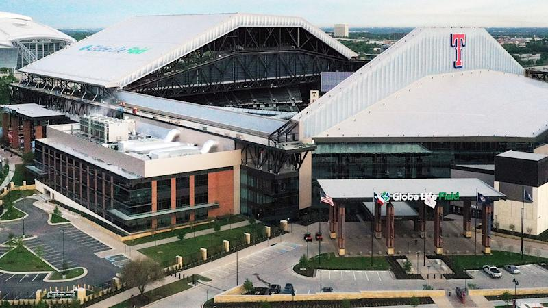 Globe Life Field, pictured here in Arlington, Texas ahead of the new MLB season.