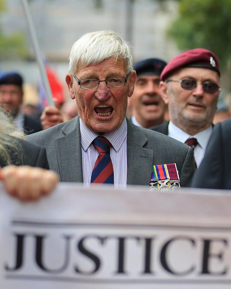 Dennis Hutchings, left, has been at the forefront of a campaign calling for an end to prosecutions of veterans who served during the Troubles (PA) (PA Archive)