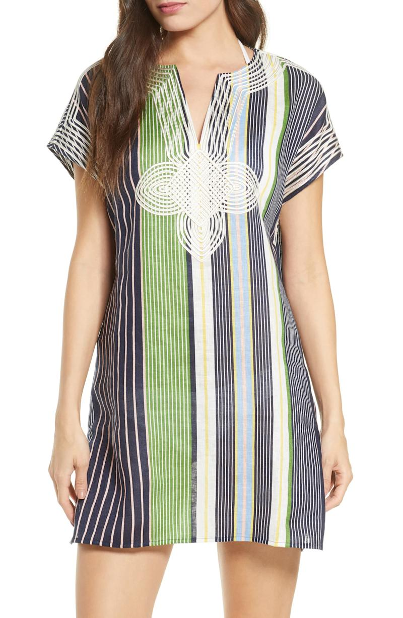 Stripe Cover-Up Tunic.