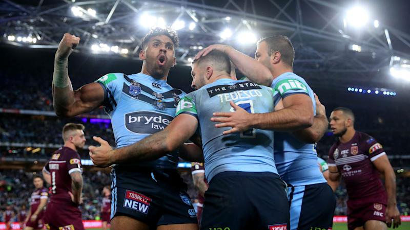 Tedesco's last-gasp try sees Blues retain State of Origin shield