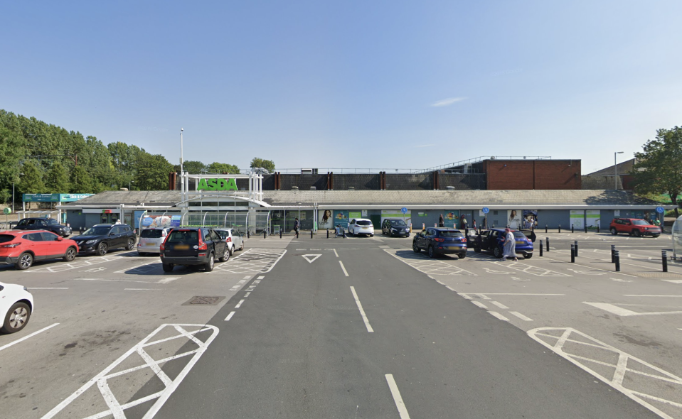 The stabbing took place outside an Asda superstore on Saturday. (Google)