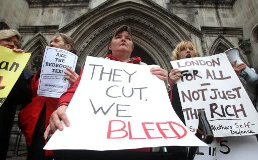 Bedroom tax protests