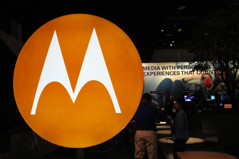 FILE - In this file photo made Jan. 9, 2010, the Motorola logo is seen at the company's exhibit at the Consumer Electronics Show in Las Vegas. Motorola Inc.'s formal split into two companies on Tuesday, Jan. 4, 2011 will mark the final step in the years-long breakup of a consumer electronics industry pioneer. (AP Photo/Paul Sakuma, File)