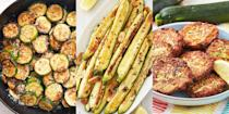 """<p>When it comes to <a href=""""https://www.delish.com/uk/cooking/recipes/g32708558/vegetarian-side-dishes/"""" rel=""""nofollow noopener"""" target=""""_blank"""" data-ylk=""""slk:side dish recipes"""" class=""""link rapid-noclick-resp"""">side dish recipes</a>, we love ourselves some courgette. The sort of courgette recipes that are easy to make, and pair perfectly with most main meals. We're talking everything from <a href=""""https://www.delish.com/uk/cooking/recipes/a33400469/baked-zucchini-recipe/"""" rel=""""nofollow noopener"""" target=""""_blank"""" data-ylk=""""slk:Baked Courgette"""" class=""""link rapid-noclick-resp"""">Baked Courgette</a> to <a href=""""https://www.delish.com/uk/cooking/recipes/a28961565/zucchini-fries-recipe/"""" rel=""""nofollow noopener"""" target=""""_blank"""" data-ylk=""""slk:Courgette Fries"""" class=""""link rapid-noclick-resp"""">Courgette Fries</a>, <a href=""""https://www.delish.com/uk/cooking/recipes/a32954264/easy-zucchini-cakes-recipe/"""" rel=""""nofollow noopener"""" target=""""_blank"""" data-ylk=""""slk:Courgette Cakes"""" class=""""link rapid-noclick-resp"""">Courgette Cakes</a> to <a href=""""https://www.delish.com/uk/cooking/recipes/a29840065/courgette-salad/"""" rel=""""nofollow noopener"""" target=""""_blank"""" data-ylk=""""slk:Courgette Salad"""" class=""""link rapid-noclick-resp"""">Courgette Salad</a>. Super-simple and ridiculously delicious. Looking for more <a href=""""http://www.delish.com/uk/cooking/recipes/g28961915/courgette-recipes/"""" rel=""""nofollow noopener"""" target=""""_blank"""" data-ylk=""""slk:courgette recipes"""" class=""""link rapid-noclick-resp"""">courgette recipes</a>? We've got plenty, including <a href=""""https://www.delish.com/uk/cooking/recipes/a34007582/lasagna-stuffed-zucchini-recipe/"""" rel=""""nofollow noopener"""" target=""""_blank"""" data-ylk=""""slk:Stuffed Courgette"""" class=""""link rapid-noclick-resp"""">Stuffed Courgette</a> and <a href=""""https://www.delish.com/uk/cooking/recipes/a28961067/zucchini-bolognese-recipe/"""" rel=""""nofollow noopener"""" target=""""_blank"""" data-ylk=""""slk:Courgette Pasta"""" class=""""link rapid-noclick-resp"""">Courgette Pasta</a> (you're welcome). </p>"""