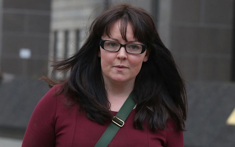 Natalie McGarry leaving court in Glasgow - PA