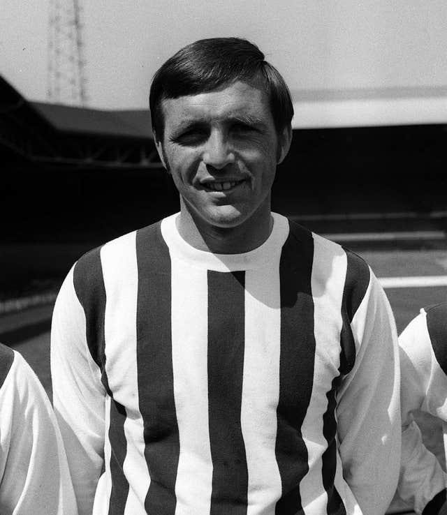 Former West Brom forward Jeff Astle died in 2002