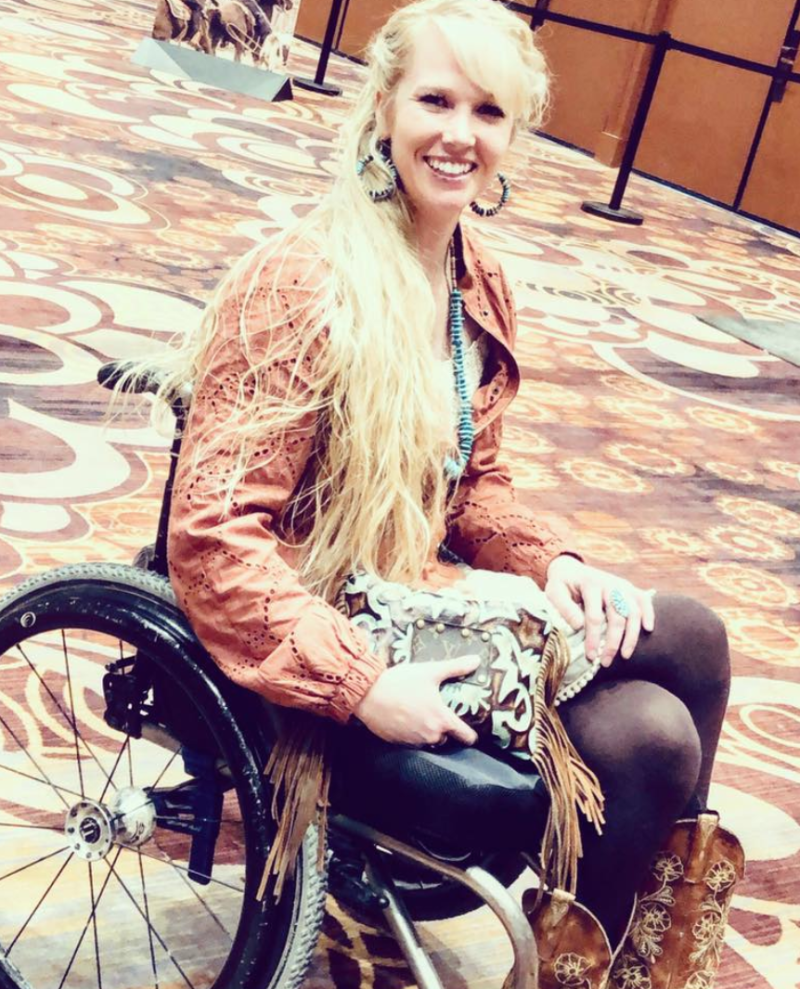 a1494c078ed40 ... a professional barrel rider, was insulted by a United Airlines gate  agent when she was informed she would not be able to navigate her own  wheelchair ...