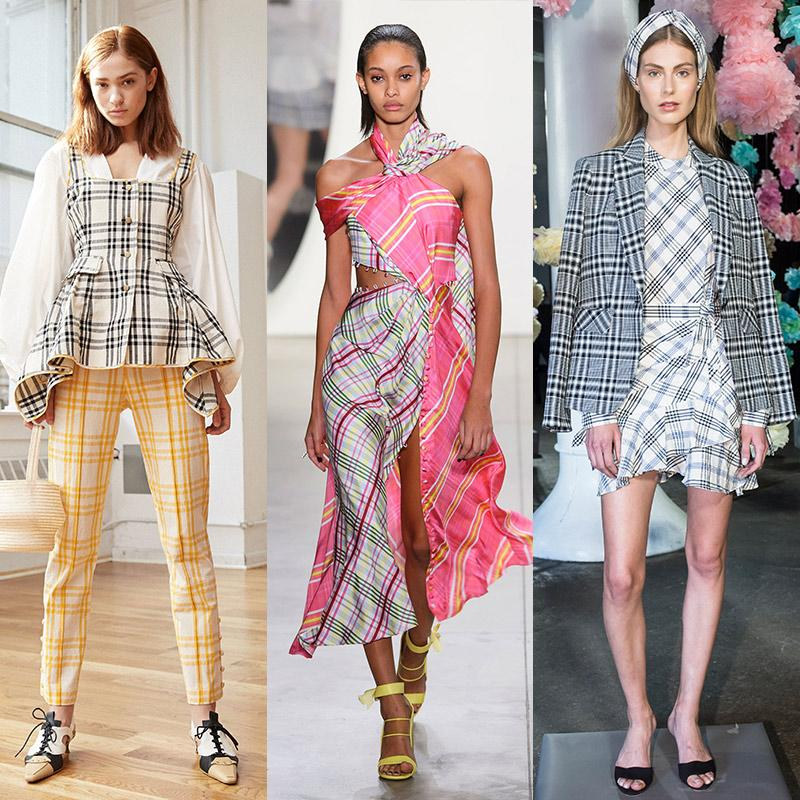 <h2>Checks</h2>                                                                                                                                                                             <p><p>Wide grid checks in various hues were splashed across everything from cutout dresses to structured tops, offering a vibrant, fresh take on a classic print.</p>                                                                                                                                                                               <h4>Rosie Assoulin, Prabal Gurung, Veronica Beard. Photos: Courtesy of Rosie Assoulin, ImaxTree</h4>