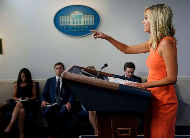 PHOTO: White House press secretary Kayleigh McEnany speaks during a press briefing at the White House, June 29, 2020, in Washington. (Evan Vucci/AP)