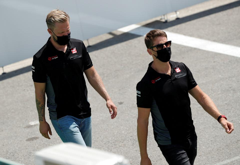 Kevin Magnussen followed Romain Grosjean in announcing his Haas departureReuters