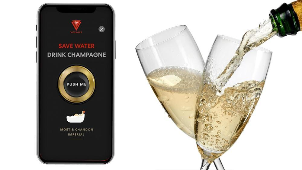On Virgin's First Cruise Ship, You Can Order Champagne by Shaking Your Phone