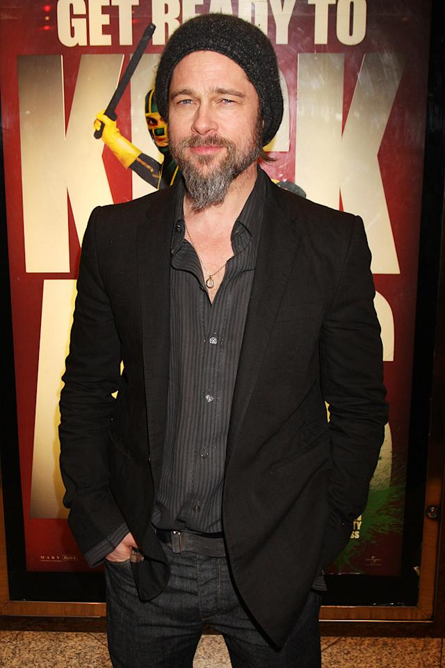 "<a href=""http://movies.yahoo.com/movie/contributor/1800018965"">Brad Pitt</a> at the London premiere of <a href=""http://movies.yahoo.com/movie/1810063108/info"">Kick-Ass</a> - 03/22/2010"