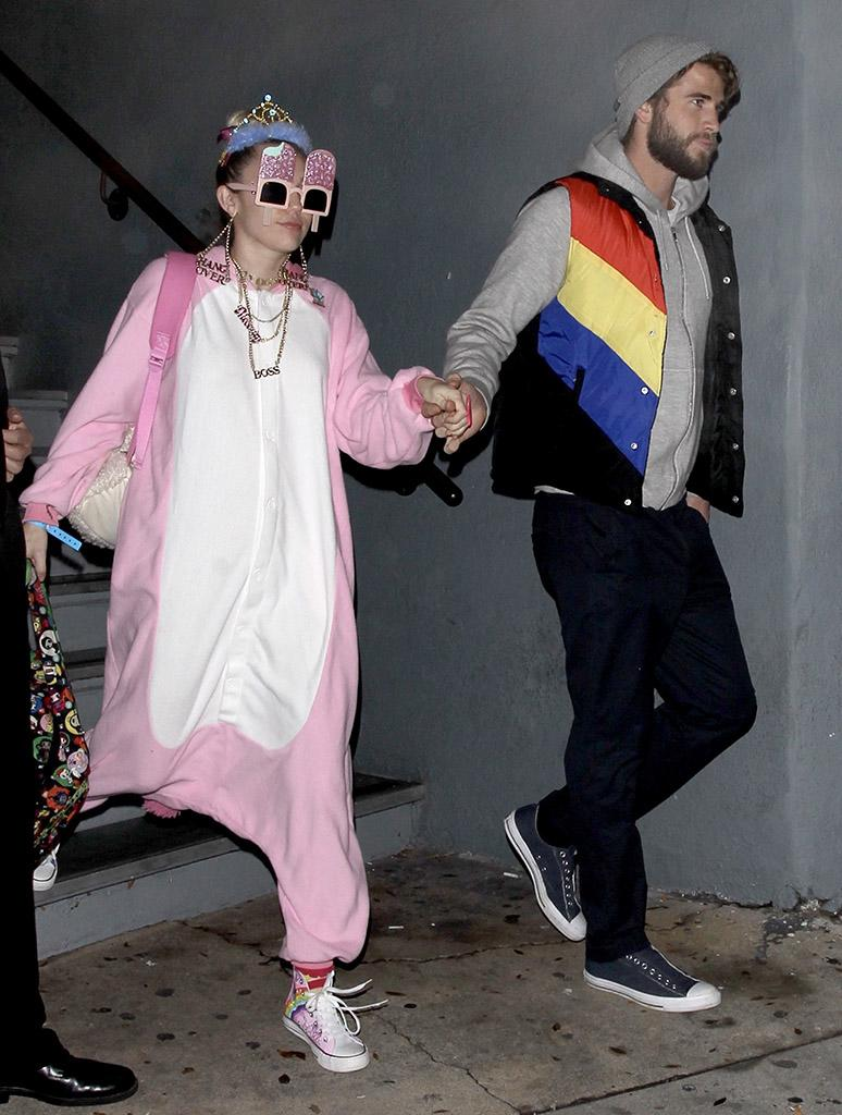 Miley Cyrus and Liam Hemsworth celebrate Liam's 27th birthday by showing up to The Flaming Lips album release party celebrated at Mack Sennett Studio in Los Angeles. Wayne Coyne also shares the same birthday date as Liam. AKM-GSI 12 JANUARY 2017 To License These Photos, Please Contact : Maria Buda (917) 242-1505 mbuda@akmgsi.com or Mark Satter (317) 691-9592 msatter@akmgsi.com sales@akmgsi.com