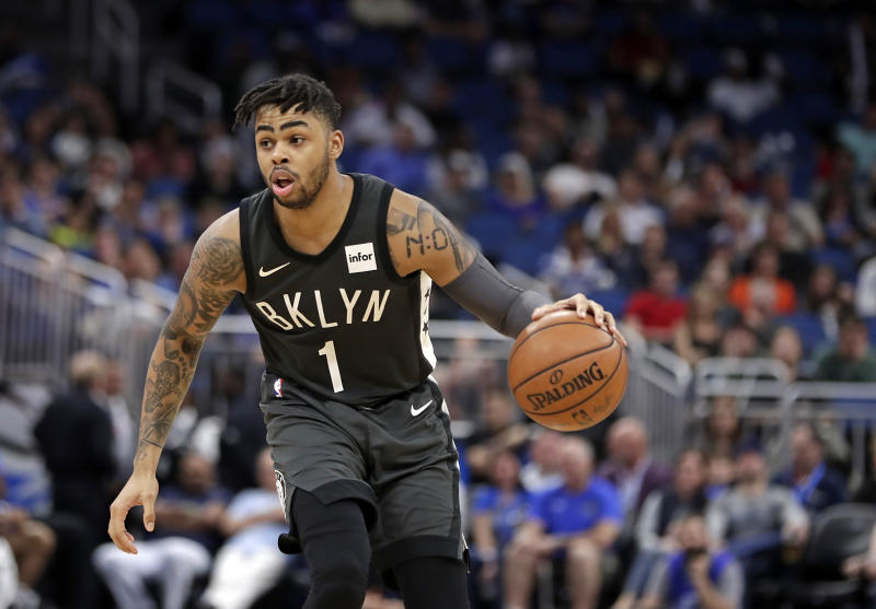 D'Angelo Russell leads a collection of intriguing young players that could make Brooklyn a pretty compelling watch this season. (AP)