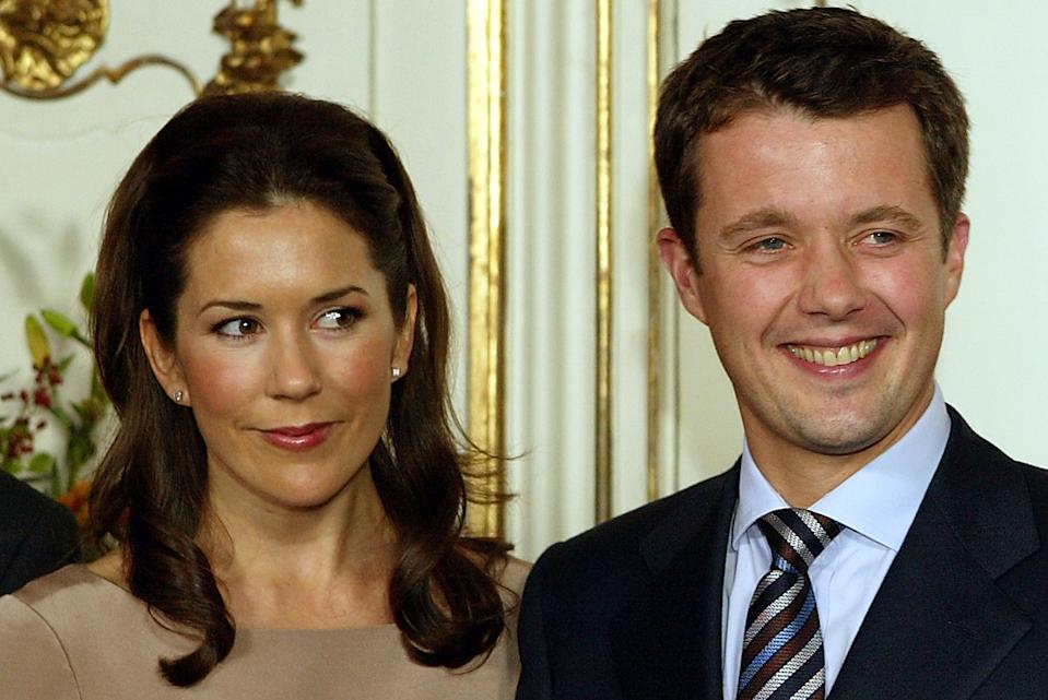 Mary Elizabeth Donaldson and His Royal Highness Crown Prince Frederik of Denmark announced their engagement on October 8, 2003. Photo: Getty Images