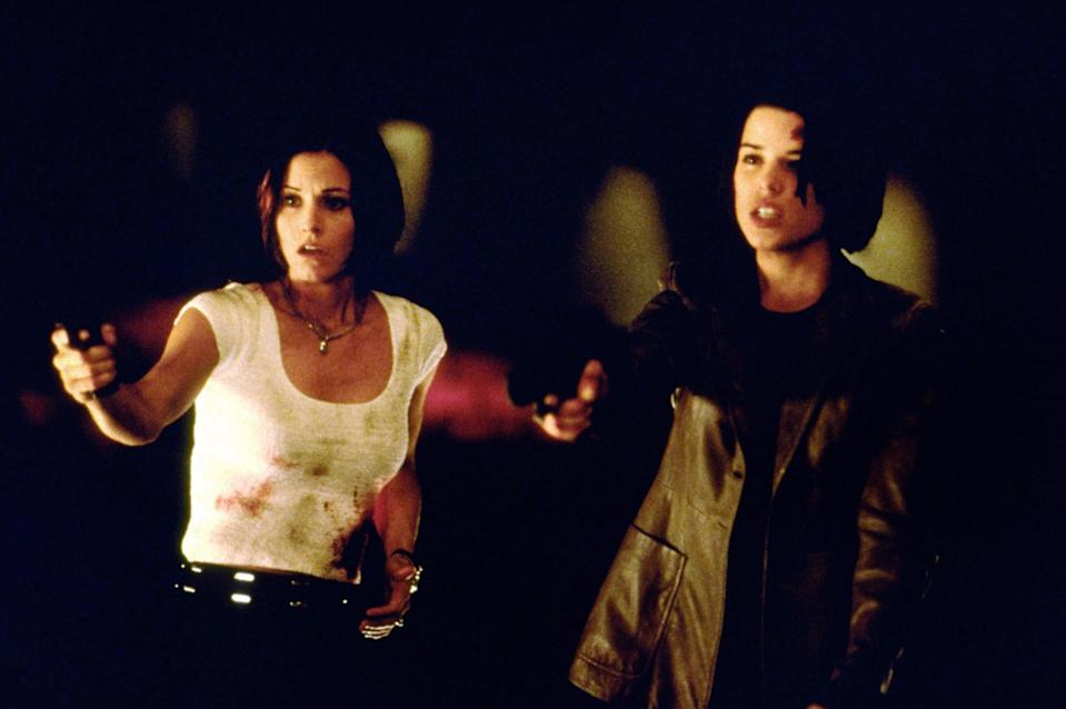 "<p>...and so is its sequel, which reunited Sidney (Neve Campbell), Gail (Courteney Cox), and Dewey (David Arquette) on a college campus to take on a new serial killer. </p> <p><a href=""https://www.amazon.com/Scream-2-David-Arquette/dp/B0094N2LQU"" rel=""nofollow noopener"" target=""_blank"" data-ylk=""slk:Available to stream on CBS All Access"" class=""link rapid-noclick-resp""><em>Available to stream on CBS All Access</em></a></p>"