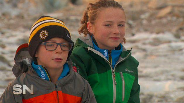 PJ and Shannon attempted to summit Mont Blanc, then aged 9 and 11.