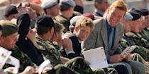 <p>Prince Harry visits Wattisham Airfield in Suffolk for the launch of the 16 Air Assault Brigade. </p>