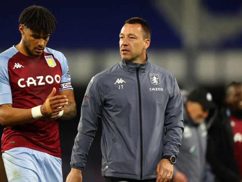 <p>Terry mocked Spurs fans after Villa's win</p> (Getty Images)