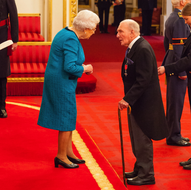 Johnny Johnson met the Queen at Buckingham Palace (Picture: PA)