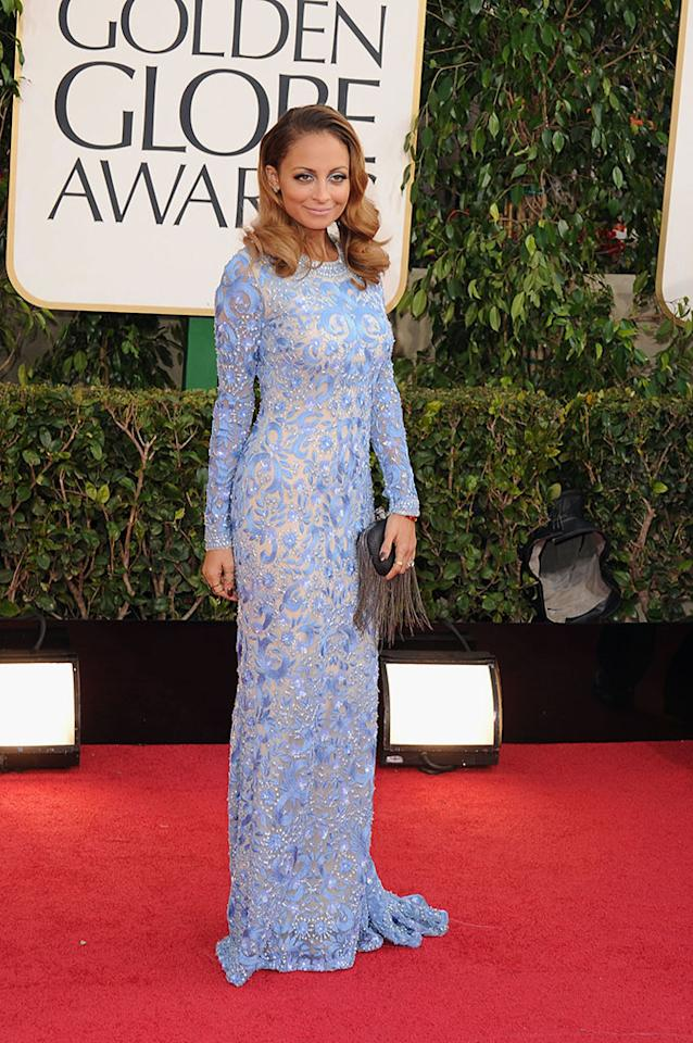 Nicole Richie arrives at the 70th Annual Golden Globe Awards at the Beverly Hilton in Beverly Hills, CA on January 13, 2013.