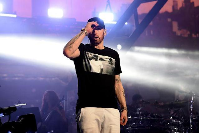 "<p>Eminem is used to accolades and awards, but the one he received this weekend might take cake. </p> <p>On Saturday, the Detroit native shared a photo of a medallion that marks his 10th year of sobriety. </p> <div><p>SEE ALSO: <a href=""https://mashable.com/2018/03/12/eminem-nra-iheartradio-awards/?utm_campaign=Mash-BD-Synd-Yahoo-Watercooler-Full&utm_cid=Mash-BD-Synd-Yahoo-Watercooler-Full"" rel=""nofollow noopener"" target=""_blank"" data-ylk=""slk:Eminem takes a dig at the NRA during the iHeartRadio Music Awards"" class=""link rapid-noclick-resp"">Eminem takes a dig at the NRA during the iHeartRadio Music Awards</a></p></div> <p>Drug addiction and rehab are topics Eminem has never been shy about discussing in his music and interviews. He's been open about abusing prescription pills and the lengthy process of recovery — which he's done with the help of a running habit, a rehab counselor, and weekly check-ins with Elton John. Yes, <em>the </em><a href=""https://www.theguardian.com/global/2010/jan/03/eminem-elton-john-drugs"" rel=""nofollow noopener"" target=""_blank"" data-ylk=""slk:Elton John"" class=""link rapid-noclick-resp"">Elton John</a>. </p> <div><div><blockquote> <p>Celebrated my 10 years yesterday. <a href=""https://t.co/Xmm9MOIEam"" rel=""nofollow noopener"" target=""_blank"" data-ylk=""slk:pic.twitter.com/Xmm9MOIEam"" class=""link rapid-noclick-resp"">pic.twitter.com/Xmm9MOIEam</a></p> <p>— Marshall Mathers (@Eminem) <a href=""https://twitter.com/Eminem/status/987846178946482176?ref_src=twsrc%5Etfw"" rel=""nofollow noopener"" target=""_blank"" data-ylk=""slk:April 22, 2018"" class=""link rapid-noclick-resp"">April 22, 2018</a></p> </blockquote></div></div> <p>In an interview in 2011 with <a href=""https://www.rollingstone.com/music/news/eminem-on-the-road-back-from-hell-20111017"" rel=""nofollow noopener"" target=""_blank"" data-ylk=""slk:Rolling Stone"" class=""link rapid-noclick-resp""><em>Rolling Stone</em></a>, he said that he did not see himself using again at all in the future. </p> <p>""For one thing, I try not to be in a position where I could be tempted. I've performed in a few clubs where there is drinking and shit, but I think even if I'd never had a drug problem, at the age I'm at, I wouldn't want to [use] anyway. I feel like this is the time in your life where you stop doing that stuff,"" he said. ""Time to grow up.""</p> <p>Eminem's April 20th tweet acknowledging his sobriety anniversary was met with praise and congratulations from fans. </p> <div><div><blockquote> <p>why did this make me cry? <a href=""https://t.co/ZQL7gNzcnk"" rel=""nofollow noopener"" target=""_blank"" data-ylk=""slk:https://t.co/ZQL7gNzcnk"" class=""link rapid-noclick-resp"">https://t.co/ZQL7gNzcnk</a></p> <p>— Uncle Ray (@krystabrueggy) <a href=""https://twitter.com/krystabrueggy/status/988288244289818625?ref_src=twsrc%5Etfw"" rel=""nofollow noopener"" target=""_blank"" data-ylk=""slk:April 23, 2018"" class=""link rapid-noclick-resp"">April 23, 2018</a></p> </blockquote></div></div> <div><div><blockquote> <p>Keep going you legend <a href=""https://t.co/gC6WekCyVa"" rel=""nofollow noopener"" target=""_blank"" data-ylk=""slk:https://t.co/gC6WekCyVa"" class=""link rapid-noclick-resp"">https://t.co/gC6WekCyVa</a></p> <p>— Shayna Loos (@ItsAPuffsLifeee) <a href=""https://twitter.com/ItsAPuffsLifeee/status/988399583335239685?ref_src=twsrc%5Etfw"" rel=""nofollow noopener"" target=""_blank"" data-ylk=""slk:April 23, 2018"" class=""link rapid-noclick-resp"">April 23, 2018</a></p> </blockquote></div></div> <div><div><blockquote> <p>Something to truly be proud of. Fame aside, money aside.. it's amazing you were able to get sober and stay sober. Congratulations, Em! ❤️ Genuinely proud of a man who seems genuinely kind. <a href=""https://t.co/1lxLFT8H0D"" rel=""nofollow noopener"" target=""_blank"" data-ylk=""slk:https://t.co/1lxLFT8H0D"" class=""link rapid-noclick-resp"">https://t.co/1lxLFT8H0D</a></p> <p>— Liberal Taco Tits (@amandagiroux28) <a href=""https://twitter.com/amandagiroux28/status/988283368696696837?ref_src=twsrc%5Etfw"" rel=""nofollow noopener"" target=""_blank"" data-ylk=""slk:April 23, 2018"" class=""link rapid-noclick-resp"">April 23, 2018</a></p> </blockquote></div></div> <p>Congrats to Eminem! </p> <div> <h2><a href=""https://mashable.com/2018/04/20/michael-phelps-teeth-brushing-colgate/?utm_campaign=Mash-BD-Synd-Yahoo-Watercooler-Full&utm_cid=Mash-BD-Synd-Yahoo-Watercooler-Full"" rel=""nofollow noopener"" target=""_blank"" data-ylk=""slk:WATCH: Why does Michael Phelps brush his teeth in the shower?"" class=""link rapid-noclick-resp"">WATCH: Why does Michael Phelps brush his teeth in the shower?</a></h2> <div>  </div> </div>"