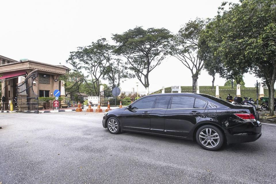 Communication and Multimedia Minister Datuk Saifuddin Abdullah arrives at the Prime Minister's Office in Putrajaya October 23, 2020. — Picture by Hari Anggara