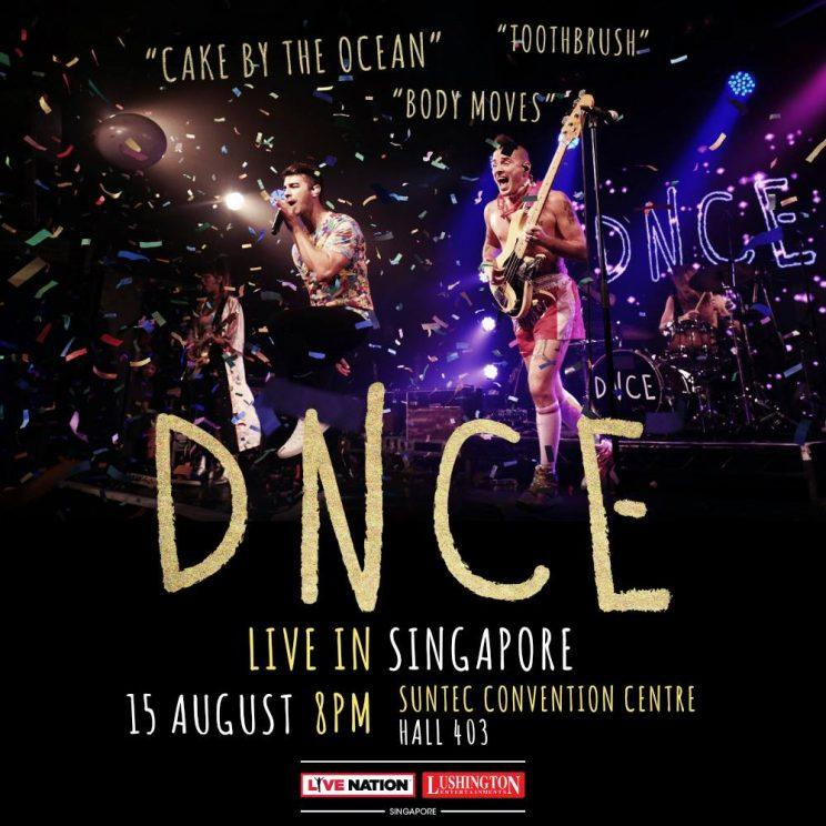 Dance-pop group DNCE to perform in Singapore on 15 August 2017 (Photo: Live Nation Lushington Singapore)
