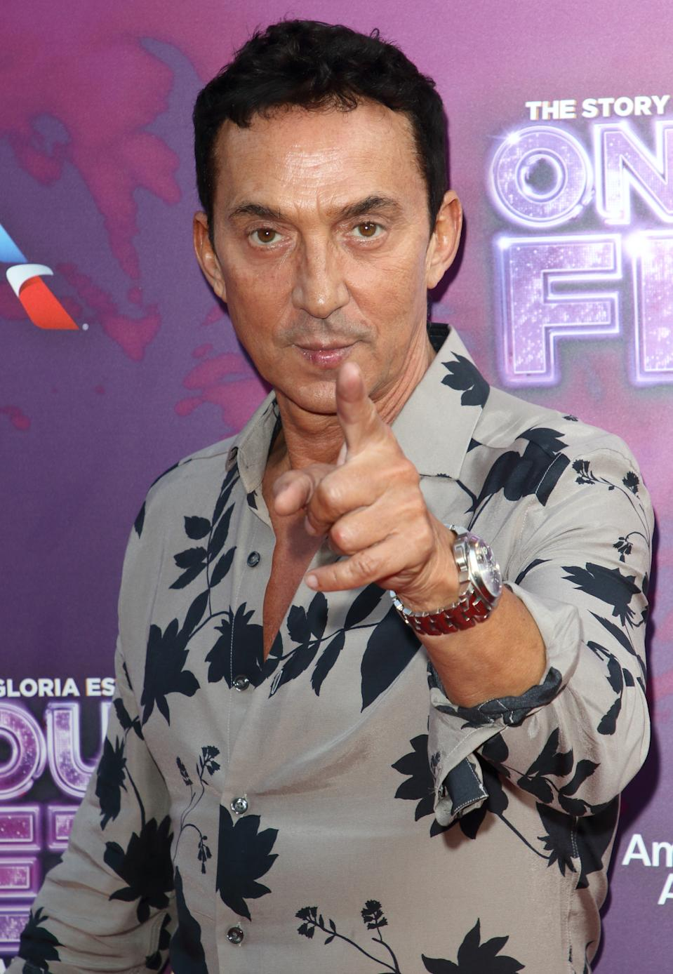 Bruno Tonioli arrives on the red carpet during the On Your Feet Press Night at the London Coliseum, St Martin's Lane. (Photo by Keith Mayhew / SOPA Images/Sipa USA)