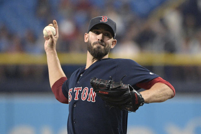 A bounce back season could make former Cy Young award winner Rick Porcello a bargain this offseason. (AP Photo/Phelan M. Ebenhack)