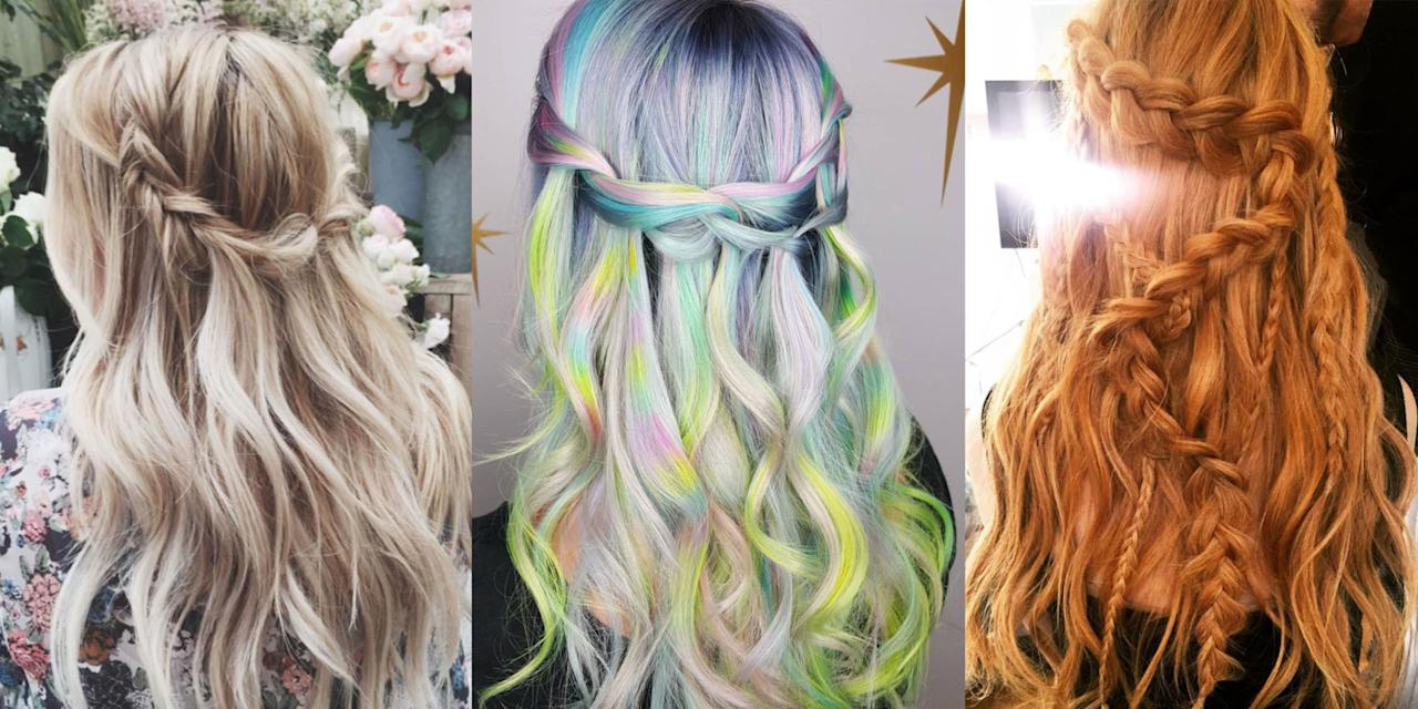 <p>Don't go chasing waterfalls—but by all means, learn how to weave one of these waterfall braid hairstyles.</p>