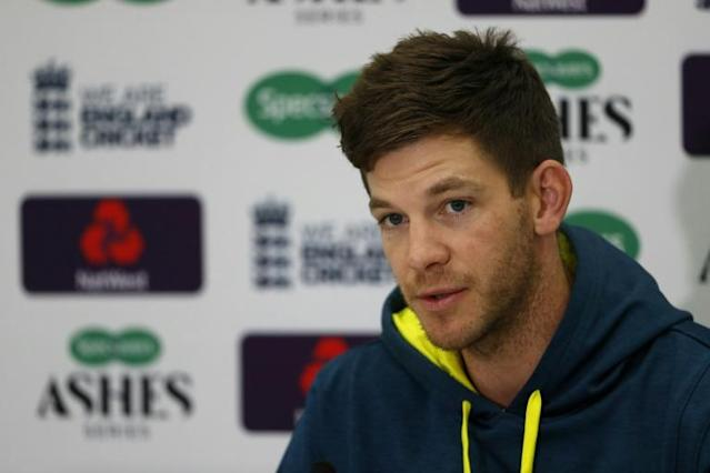 Australia captain Tim Paine speaks to the press at the Oval (AFP Photo/Adrian DENNIS)