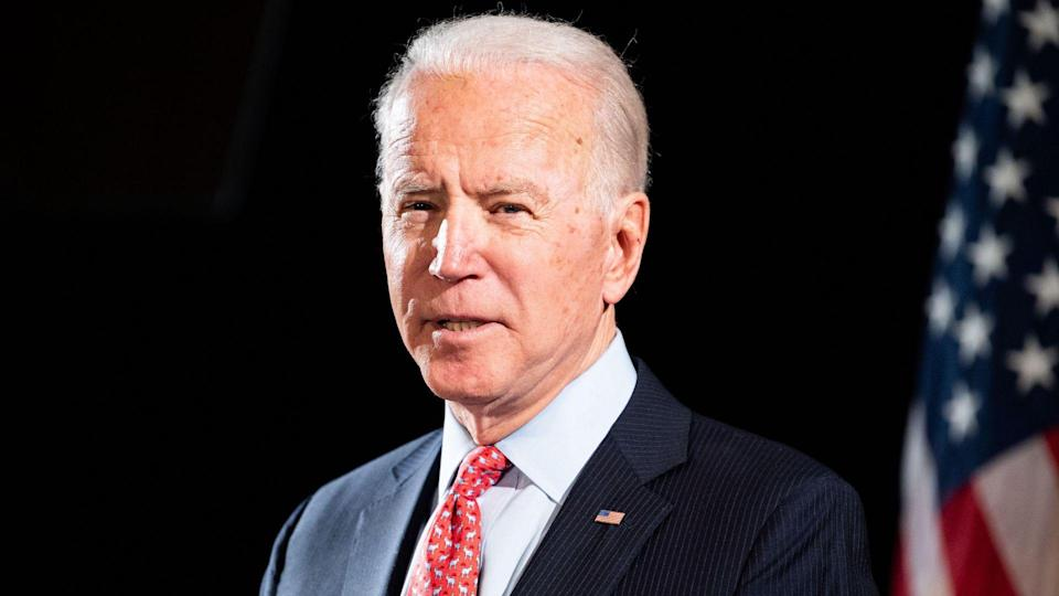 Mandatory Credit: Photo by Michael Brochstein/SOPA Images/Shutterstock (10581724h)Former Vice President Joe Biden speaks about the Coronavirus and the response to it at the Hotel Du PontJoe Biden, US Presidential Election Campaiging, Wilmington, USA - 12 Mar 2020.