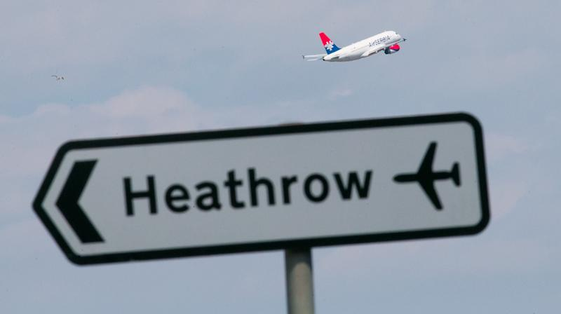 "A man in his 40s has died after ""a serious accident"" involving two airport vehicles crashing on the airfield at Heathrow."