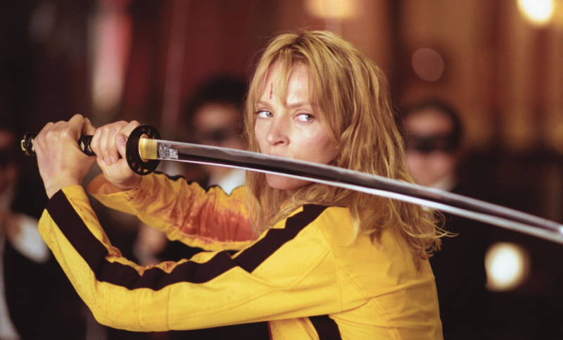 Uma Thurman in Kill Bill Vol. One (Credit: Miramax)