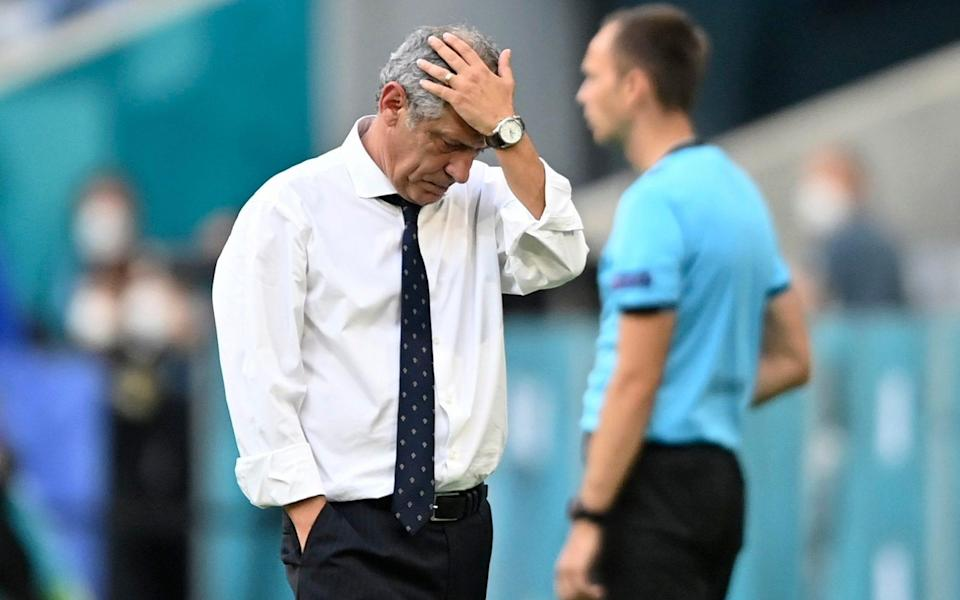 Portugal manager Fernando Santos is left scratching his head - AP