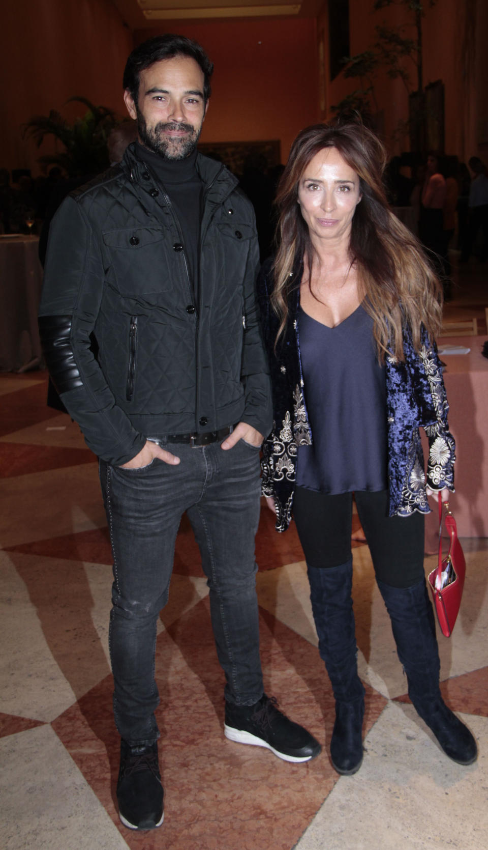 MADRID, SPAIN - NOVEMBER 20: Maria Patino and Ricardo Rodriguez attend the Smylife Collection Beauty Art III presentation at the Thyssen-Bornemisza Museum on November 20, 2017 in Madrid, Spain.  (Photo by Europa Press/Europa Press via Getty Images)