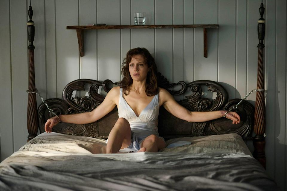 """<p>Based on Stephen King's 1992 novel, <strong>Gerald's Game</strong> is a friggin' nightmare. Jessie is left tied to a bed after a sex game goes wrong and while she fights to stay alive, the line between reality and her imagination begins to blur. </p><p><a href=""""https://www.netflix.com/title/80128722"""" class=""""link rapid-noclick-resp"""" rel=""""nofollow noopener"""" target=""""_blank"""" data-ylk=""""slk:Watch  Gerald's Game on Netflix now."""">Watch <strong> Gerald's Game</strong> on Netflix now.</a></p>"""