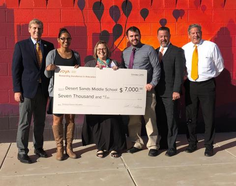 Voya Honors Phoenix Arizona's Desert Sands Middle School with Third-Place Unsung Heroes Program Award