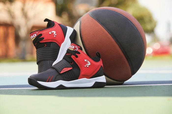 Skechers' new kid's basketball shoe designed with Shaq.