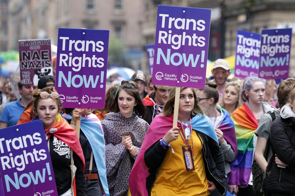 Transgender rights march (PA Archive)