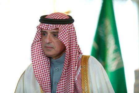 Saudi Arabia's Foreign Minister Adel al-Jubeir speaks during an interview with Reuters in Munich