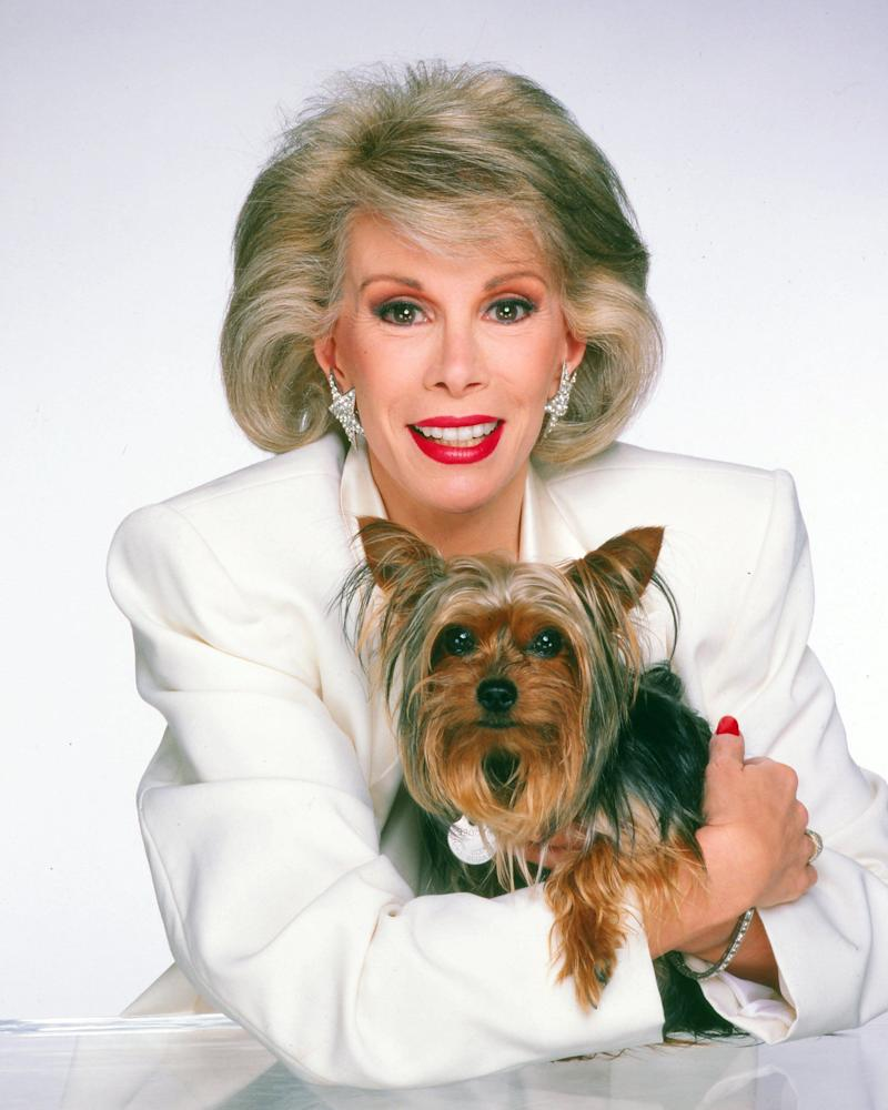 Joan Rivers poses for a portrait in 1985 in Los Angeles, California. (Harry Langdon/Getty Images)