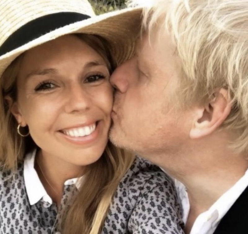Carrie Symonds announced their engagement - and the fact that she was pregnant - on Instagram.