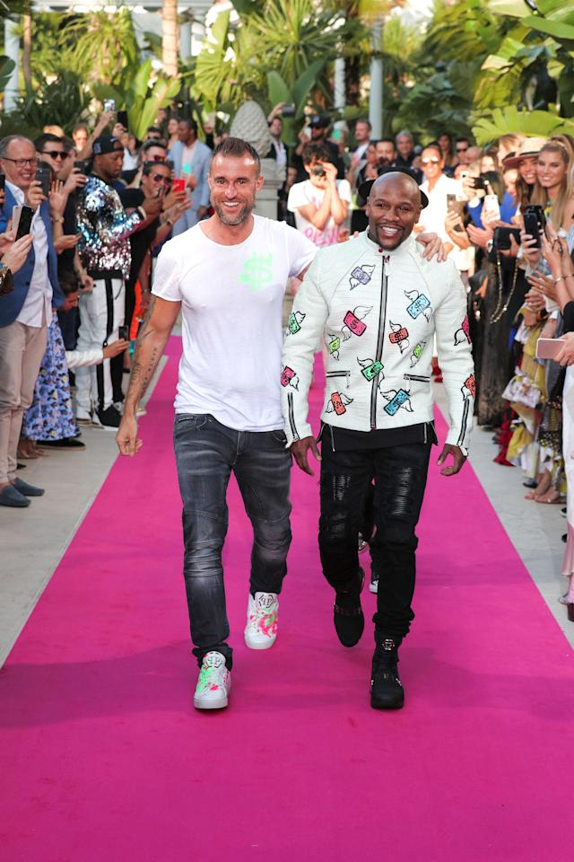 Philipp Plein and Floyd Mayweather made their first appearance together at the designer's resort fashion show in Cannes. (Photo: Philipp Plein Group)