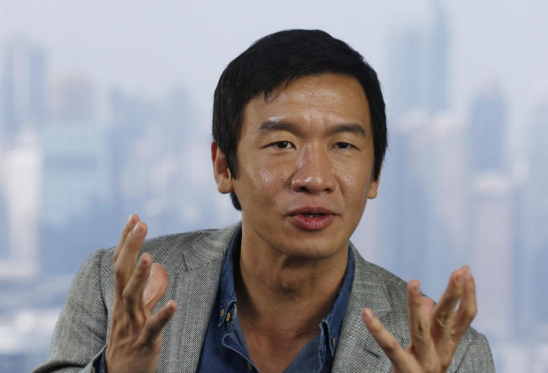"""In this Tuesday Oct. 22, 2013 photo, Singaporean actor Chin Han speaks during an interview in Hong Kong, Tuesday, Oct. 22, 2013. The 43-year-old actor has been working diligently and quietly for years in Hollywood. It wasn't until the role of """"Lau,"""" the crooked accountant in """"The Dark Knight"""" that caught the attention of casting agents, and director. Since then, he has been given the opportunity to work with screen legends such as Morgan Freeman, Michael Caine, and more recently, Robert Redford for the Captain America sequel. (AP Photo/Vincent Yu)"""